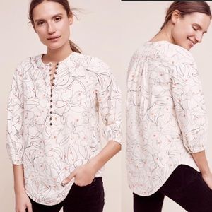 Maeve ANTHROPOLOGIE NWT Bethesda Flannel Blouse